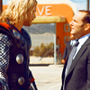 mjolnir_retriever: Thor and Coulson talking (son of Coul)