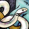 flynn_the_cat: Close up on a white snake. (Snake)