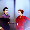 sixbeforelunch: Jadzia Dax and Kira Nerys from DS9, no text (trek - jadzia and kira)