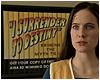 "catchmyfancy: Caroline Dhavernas as Jaye in Wonderfalls and the text ""I surrender to Destiny"" (Destiny)"