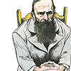 recordbodycount: cartoon of Dostoevsky (books // dostoevsky)