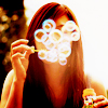 oaktree: a woman blows soap bubbles (bubbles)