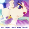 "veleda_k: Kozue from Revolutionary Girl Utena. Text says, ""Wilder than the wind."" (Utena: Kozue)"