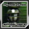 "megpie71: Slave computer, captioned ""My most humble apologies, master"" (computer troubles)"