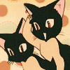 dreamoftheroselin: CLAMP- style anime cats watching with interest, (why hello there)