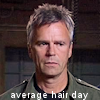 thothmes: Jack O'Neill, hair spiking every which way, legend: Average Hair Day. (Average Hair Day)