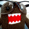 tachyonic: A domo-kun with oversized geek glasses. (domo-geek)