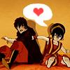shorelle: Zuko and Toph from Avatar. (zuko&toph → <3)