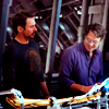 jet: Bruce and Tony from the Avengers movie (bruce/tony)