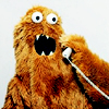 sasha_feather: monster on the phone (monster on the phone)