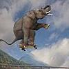 lavendertook: (elephant rollerskate jump)