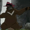 dragon_bagon: a combination of a platypus and a bear standing on it's hind legs and wearing a 1980's fedora (Default)