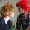 binchan: My friend and I during a livestream, cosplaying as Axel and Roxas (Default)