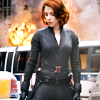 scintilla10: Natasha Romanov looking calm and badass while things blow up behind her (Avengers - Natasha doesn't look at explo)