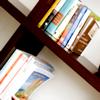 mab_browne: Off-kilter angle photo of books on a shelf (Books)