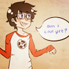 sunset_moth: Egbert wearing Strider's shirt >:] (oyaaay)