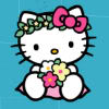 veleda_k: Hello Kitty with flowers (Hello Kitty flowers)
