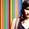watersword: KT Tunstall against a colorful striped background (Music: KT Tunstall)