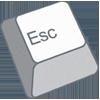 hope: an escape key (escape key)