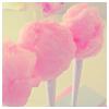 ellia: three sticks of pink candyfloss (candyfloss)
