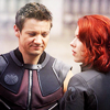 hasthehighground: Natasha and Clint being quiet and happy at each other ([natasha] relaxed)