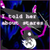 cmshaw: Homestuck: Rose, gone grimdark, tumbles through the darkness; caption: I told her about stares (I warned you sis)