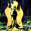 misstressofevil: maleficant appearing in flames (evil fairy)