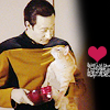 ladyoflorien: these are my hearts; I made them just for you (Love: TNG - Data/Spot Kitty love)