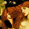 hope: pre-raphaelite painting of woman combing her hair (Pre-Raphaelite grooming)