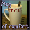 thedivinegoat: Picture: Photo of a mug of hot chocolate - Text: Mug of Comfort (My Photo - Hot Chocolate)
