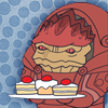 callmeishmael: Wrex with cake (food)