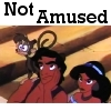 everysecondtuesday: Jasmine and Aladdin are not amused (not amused)