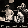 "zana16: The Beatles with text ""All you need is love"" (beatles)"