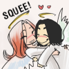 shorelle: Severus Snape and Lily Evans from Harry Potter. (severus&lily → hugs)