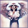 solcita: A painting of an angel, by John Jude Palencar (Alleya (ponderous))