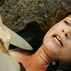 shanaqui: Ellen from Supernatural, at knifepoint. ((Ellen) Knife point)