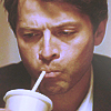 shanaqui: Jimmy from Supernatural, drinking. ((Jimmy) Slurp)