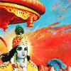 bossymarmalade: krishna driving for arjun (charioteer of the heavens)