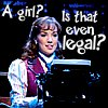 kaffyr: She's at a typewriter; is she legal? (Are Girls Legal?)