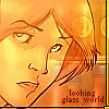 muccamukk: Rikki looking at her reflection. Text: Looking glass World (Marvel: Looking Glass)