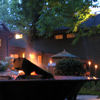 domtheknight: a firepit outside at dusk (fire pit)