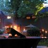 domtheknight: a firepit outside at dusk (fire pit)