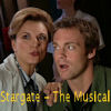 thothmes: Fraiser and Jackson, heads close together, appear to be singing (Stargate - The Musical)