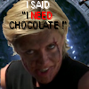 thothmes: Fierce Bloody Carter Demands Chocolate (Need Chocolate)