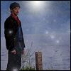 ext_50422: Merlin waiting for the boat to the Isle of the Blessed, with added sparklies (Merlin)