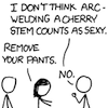 bodger: xkcd android girlfriend arc weld cherry stem (arc weld)