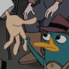 radondoran: Perry the Platypus holding Doofenshmirtz's hand (hold my hand)