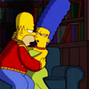 bossymarmalade: marge and homer the moment before kissing (truest love story of all time)