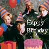 thothmes: SG-1 in party hats with cake etc., Happy Birthday (Happy Birthday - Early Team)