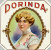"dorinda: Vintage orange crate label, ""Dorinda"" brand (Dorinda_label)"